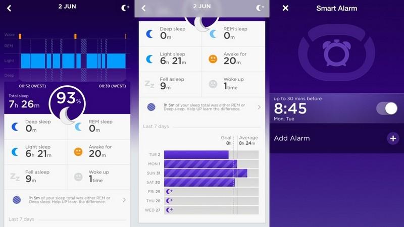характеристики сна в фитнес трекере