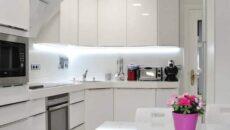 угловая кухня белая